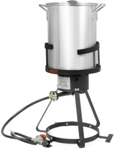 Stark Deluxe 30 QT Aluminum Turkey Deep Fryer
